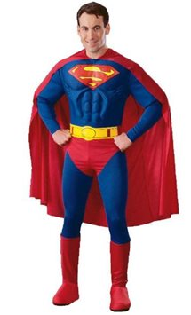 Superman Deluxe Muscle Chest - Adult Costume