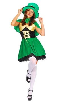 St. Patrick's Lady Leprechaun - Adult Costume