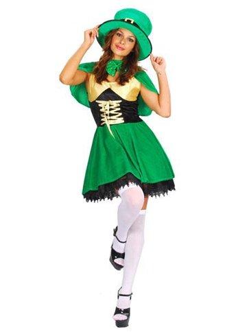 St Patrick S Lady Leprechaun Adult Costume Party Delights