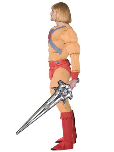 He-Man Muscle Chest - Adult Costume back