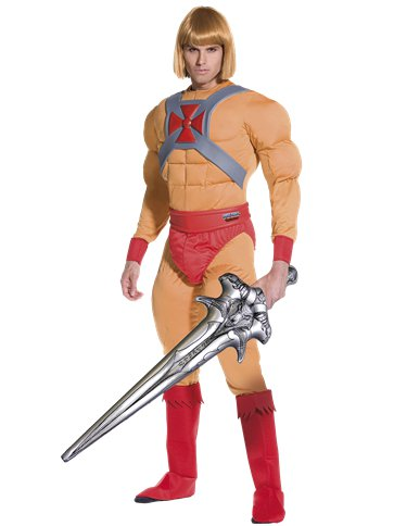 He-Man Muscle Chest - Adult Costume front