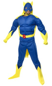 Bananaman Muscle Chest - Adult Costume