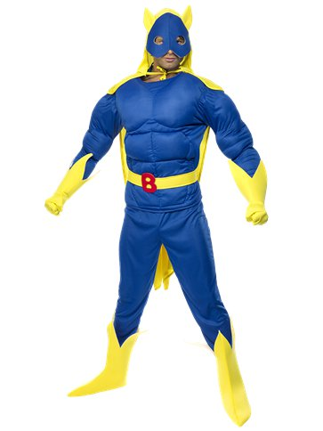 Bananaman Muscle Chest - Adult Costume front