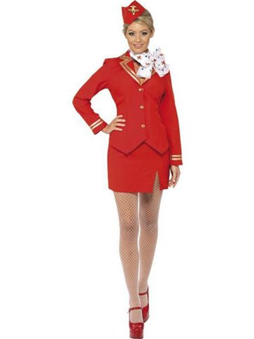 Flight Attendant - Adult Costume front