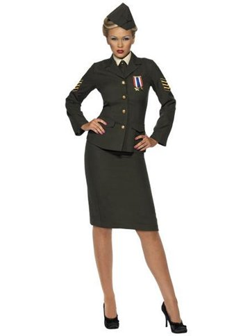 Wartime Officer Lady - Adult Costume front