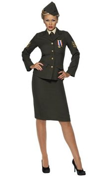 Wartime Officer Lady - Adult Costume