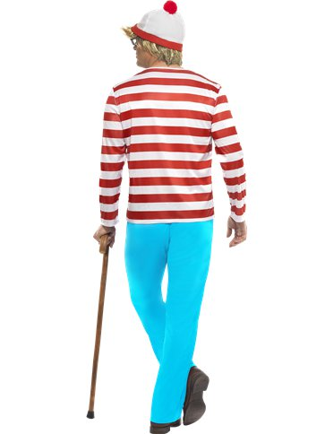 Wheres Wally - Adult Costume back
