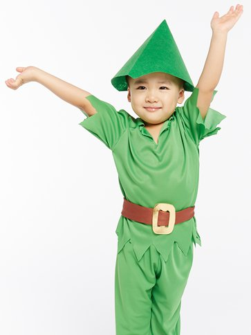 Peter Pan - Child Costume back
