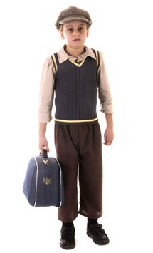 Evacuee Boy - Child Costume