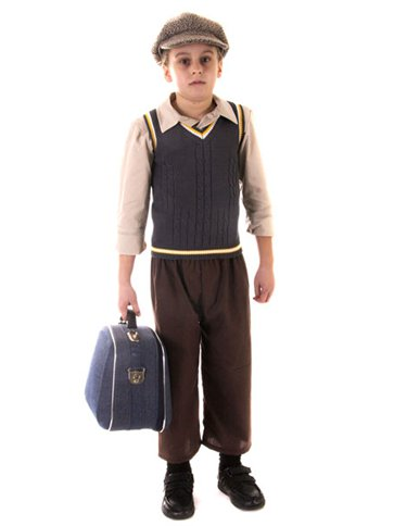Evacuee Boy - Child Costume front