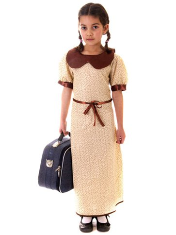 Evacuee Girl Child Costume Party Delights