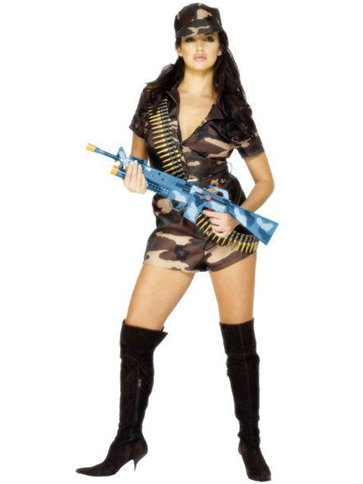 Army Girl - Adult Costume front