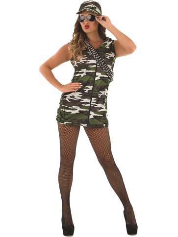 Camo Girl - Adult Costume front