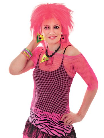 Pink Mesh Top - Adult Costume front