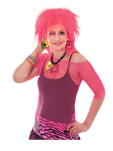 Pink Mesh Top - Adult Costume pla