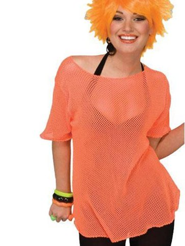 Mesh Top Orange - Adult Costume front