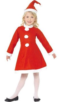 Miss Santa Dress - Child Costume