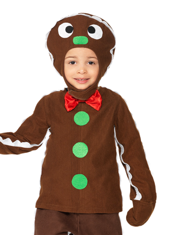 Little Gingerbread Man Toddler And Child Costume Party