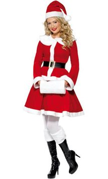 Deluxe Miss Santa - Adult Costume