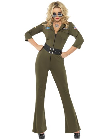 Top Gun Aviator Girl - Adult Costume front