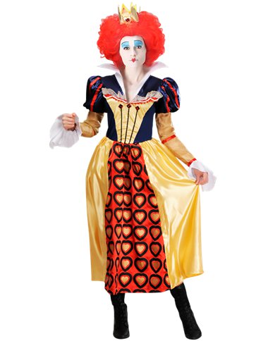 Disney Red Queen of Hearts- Adult Costume front