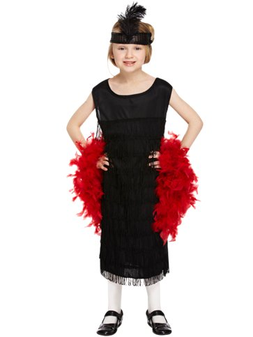 Black Flapper Dress Child Costume Party Delights