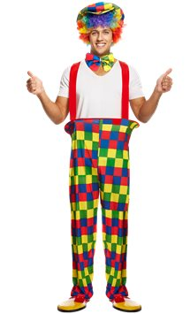 Rainbow Clown - Adult Costume