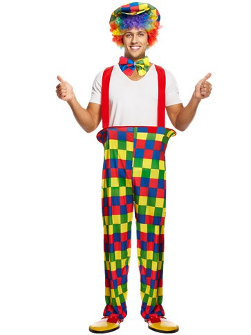 Rainbow Clown - Adult Costume front