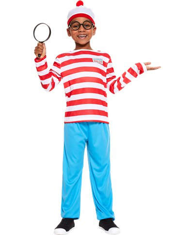 Where's Wally - Child and Teen Costume front