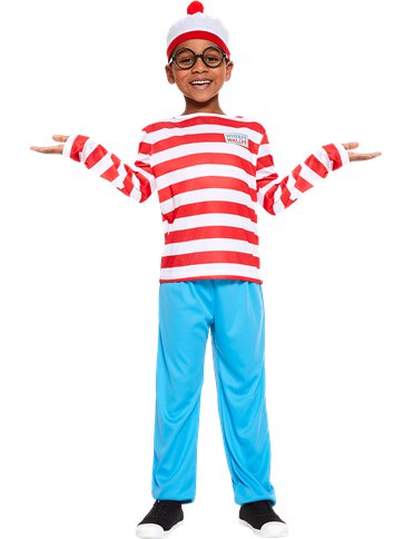 Where's Wally - Child and Teen Costume pla