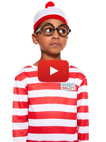 Where's Wally - Child and Teen Costume video