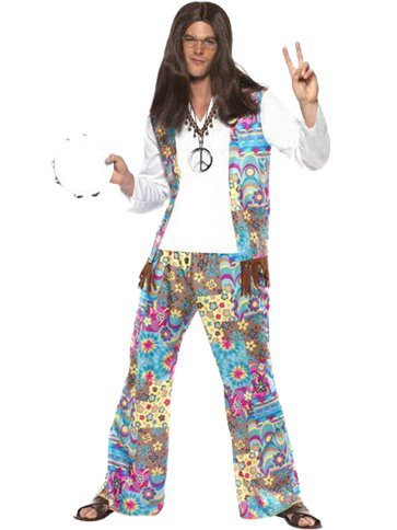 Flower Power Hippie - Adult Costume front