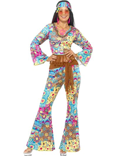 Flower Power Hippie - Adult Costume