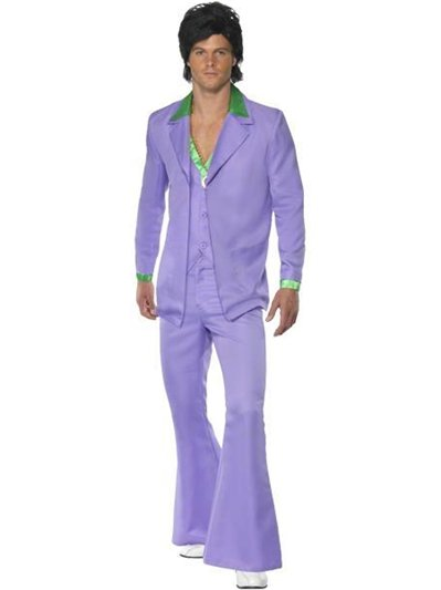Lavender 1970's Suit - Adult Costume