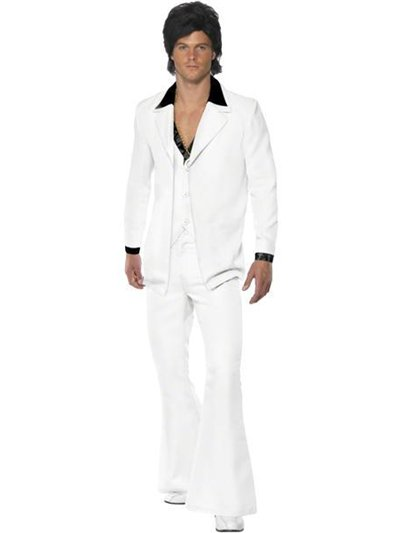 70's White Suit - Adult Costume