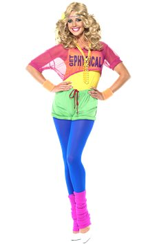 Lets Get Physical 80's Girl - Adult Costume