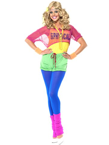 Lets Get Physical 80's Girl - Adult Costume front