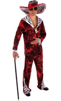 Big Daddy Pimp Red - Adult Costume
