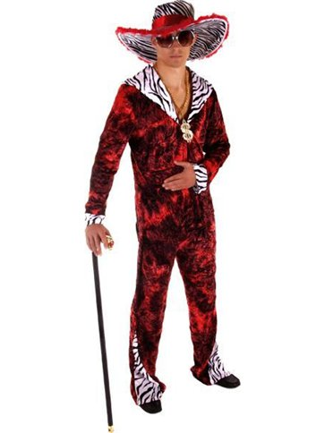 Big Daddy Pimp Red - Adult Costume front