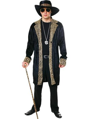 Pimp Black - Adult Costume front