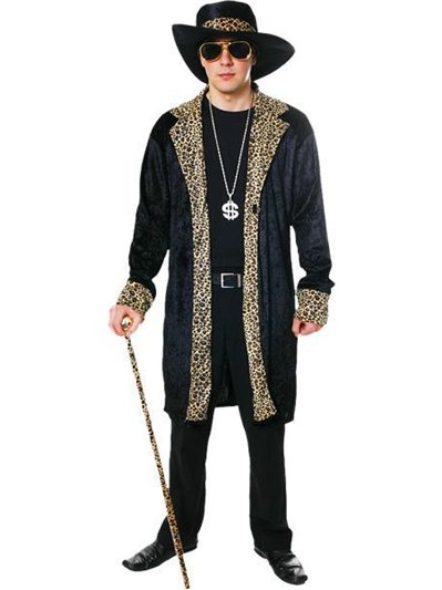 Pimp Black - Adult Costume