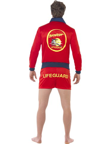 Baywatch Lifeguard - Adult Costume back
