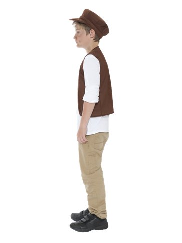 Victorian Urchin Hat & Waistcoat - Child Costume left
