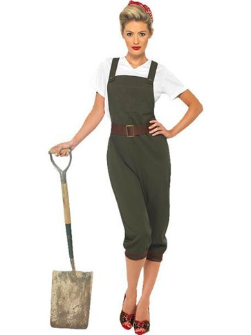 WW2 Land Girl - Adult Costume front