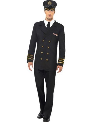 Navy Officer Man - Adult Costume front