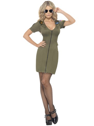 Sexy Top Gun Dress - Adult Costume front