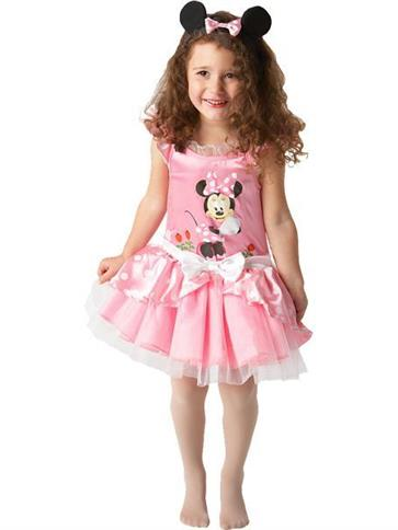 Minnie Mouse Pink Ballerina - Child Costume front