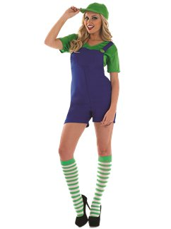 Sexy Plumbers Mate Green - Adult Costume
