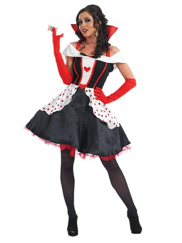 Queen of Hearts Long Length - Adult Costume front