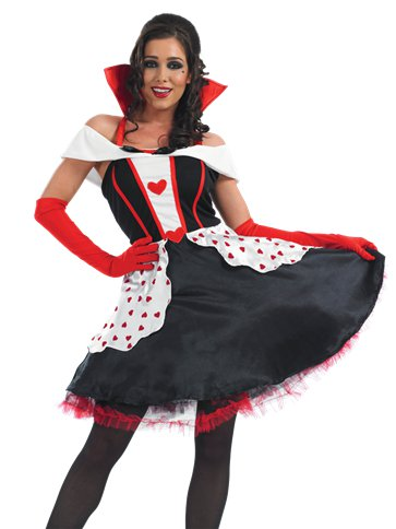Queen of Hearts Long Length - Adult Costume left